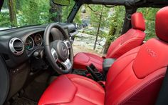 2013 Jeep Wrangler Rubicon 10th Anniversary Edition Red Leather! HA!