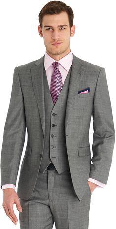 Lanificio F.lli Cerruti Dal 1881 Tailored Fit Silver Sharkskin Mix And Match Jacket