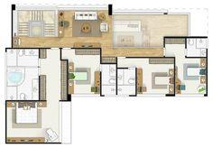 Condomínio Bauhaus,Planta Individual - Superior