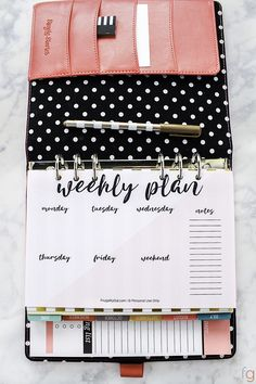 Weekly Planner Printable | Free Printable Weekly Planner Pages | Planner Template | Planner Ideas | Planner Organization | Planner Inserts