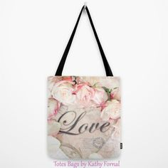 Hey, I found this really awesome Etsy listing at https://www.etsy.com/listing/183452408/love-roses-tote-bag-shabby-chic-tote