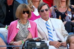 Anna Wintour with Shelby Bryan (Her Really Cute Boyfriend) US Open 2012