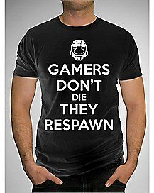Halo Gamers Don't Die They Respawn Tee