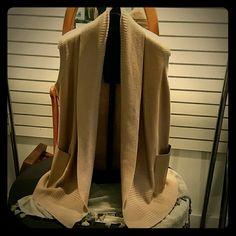 LAFAYETTE  148 SWEATER Sweater Cardigan w/leather pockets Lafayette 148 New York Sweaters Cardigans