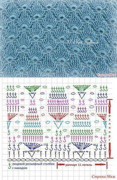 Рукоделие https loveamigurumi com amigurumi crochet knitting amigurumi patterns crochet afghan patterns baby crochet patterns crochet afghan yarn crochet scarf crochet blanket Crochet Stitches Chart, Knitting Stiches, Crochet Motifs, Crochet Diagram, Filet Crochet, Diy Crochet, Knitting Patterns, Crochet Patterns, Afghan Patterns