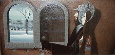 Artist Eugene Baker Fairytale Art, American Artists, Oversized Mirror, Fairy Tales, Pictures, Window, Paintings, Couple, Decor