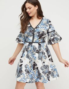 d3fa24ff8e1 Embroidered Floral Fit   Flare Dress