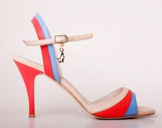 M04 Beige & Pink | 3.0 inch | Turquoise Tango Shoes USA