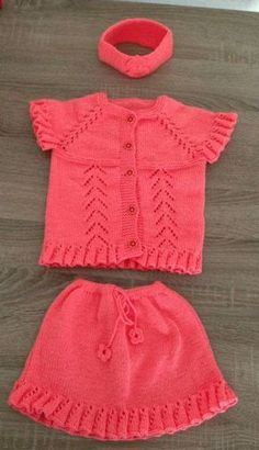 How To Knit Easy Child Skirt With Flywheel / Ruffled Bow Trim. - Nice ideas - Her Crochet Dolly Fashion, Baby Store, Easy Knitting, Baby Knitting Patterns, Baby Dress, Knit Dress, Crochet Baby, Girls Dresses, Suits