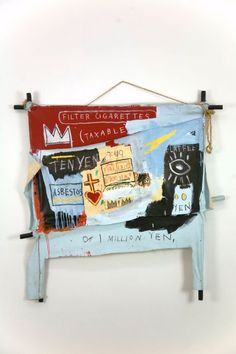 Image Detail for - Jean-Michel Basquiat, One Million Yen, 1982, Oil on canvas with wood ...