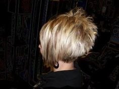 I want my hair to spike like this in the back!!! I like this haircut, except I cannot see the front?