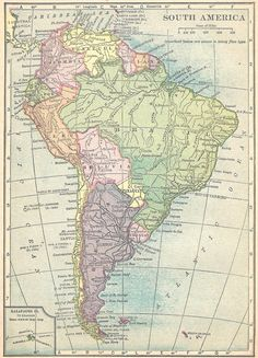 Map of South America in 1909