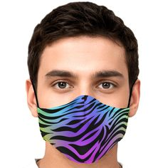 Tiger Rainbow Face Masks Rainbow Face, Youth Age, Irish Design, Irish Celtic, Ear Loop, Face Shapes, Face Masks, Your Skin, Perfect Fit