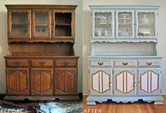 Shabby Chic Before and After Hutch