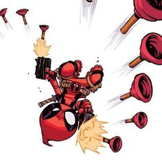 Cartoons And Heroes — skottieyoung:   Deadpool #marvel #youngvariant