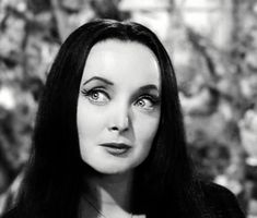 Carolyn Jones was the queen of creepy because of her portrayal of Morticia in, 'The Addams Family'. Despite the show's remakes Jones will always be remembered as the original Morticia Addams. The Addams Family 1964, Die Addams Family, Adams Family, Morticia Addams, Carolyn Jones, Los Addams, Ted Cassidy, John Astin, Charles Addams