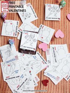 Big Hero 6 and Baymax Valentines {Free Printables} #bighero6 #valentines