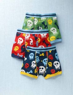 sharks, skulls, or bananas undies, S or R (2-3 or 5-6 sizes) $32 for 3.