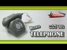 Polymer Clay Fimo - mini 1:12 Retro Telephone - *advanced Tutorial* - YouTube