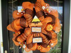 Candy Corn Halloween Mesh Wreath $85
