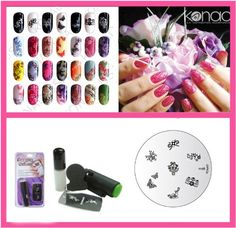 Konad Nail Art Mini Set Polish, Stamper, and Scraper   Image Plate M68 Spring Party   A-Viva Nail File ** Check out the image by visiting the link.