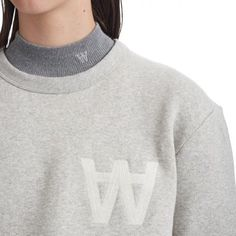 Our collegiate-style sleeve sweatshirt in monochrome base fleece with updated AA embroidery on the breast. The sweatshirt comes in three different colorways- Pristine Tawny port and pictured Grey melange. Available at W.W. stores and online now #woodwood #WWSS16 @w00dw00d by w00dw00d