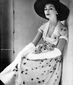 Glamour Magazine, April 1951. The era of true elegance.