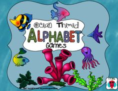 Ocean Alphabet Games from AJ Bergs on TeachersNotebook.com -  (16 pages)  - This is a set of three different alphabet games with an Ocean theme.