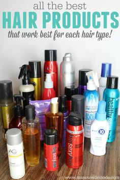 Ever wonder what are the best products for your hair type? Here is a complete list of what products work best for what types of hair - MUST read!!