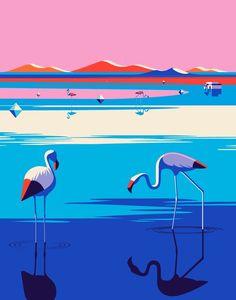 Series of Travel illustrations for Kuoni France 2016 brochure. Art direction by Altavia. Malika Favre