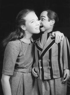 The English actress's professional career started early — at just 14, she starred on popular ventriloquist Peter Brough's radio show Educating Archie. But like all stars' early roles, this was a weird one: Andrews actually played the puppet's girlfriend. Yikes!
