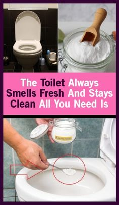 The Toilet Smells Fresh And Clean. All You Need Is, Baking Soda And Lemon, Homemade Toilet Cleaner, Household Chores, Household Tips, Household Cleaners, Fresh And Clean, Healthy Tips, Healthy Choices