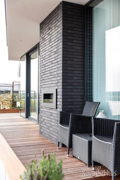 Moderne woning met strakke rechte lijnen Patio, Outdoor Decor, Modern, Home Decor, Trendy Tree, Decoration Home, Room Decor, Home Interior Design, Home Decoration