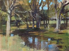 """My Mini-Pearl painting for Plein Air Texas 2017. """"Just Off the Trail"""" (oil on canvas, 6""""x8""""). #patricksaunders #patricksaundersfineart #patricksaundersfinearts #patsaunders #pleinairpainter #pleinairartist #pleinair #enpleinair #pleinairstreaming #saundersfinearts #juriedpleinaircompetition #landscapepainting #pleinairpainting"""