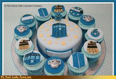 Doctor Who Cake + Cupcakes