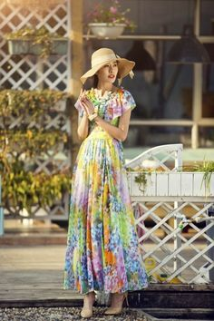 Modest Vibrant Dress