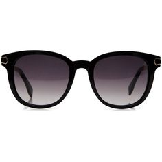 Fendi Signature sunglasses ($365) ❤ liked on Polyvore featuring accessories, eyewear, sunglasses, glasses, óculos, black, fendi eyewear, fendi glasses, wide sunglasses and lightweight sunglasses