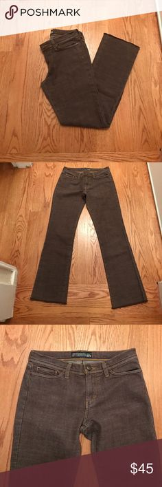 """Joe's Jeans Brown Jeans Joe's Jeans Brown Jeans - EUC - style 5401MU3 Cut Joes012- raw gem detail- threading is navy orang and gold - inseam is approximately 29.75"""" Joe's Jeans Jeans"""