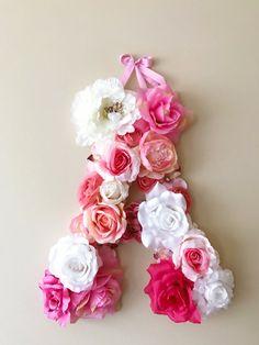 Flower girl gift 18'' Flower Letters 1st birthday by PaulettaStore