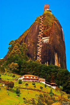 659 stairs to the top, The Guatape Rock in Colombia.