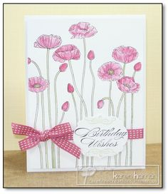 """""""Pleasant Poppies,"""" """"Bring on the Cake,"""" Flourish from """"Kindness Matters,"""" Stampin Up"""