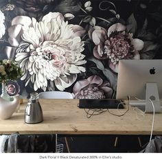 Not For Shrinking Violets: Where to Buy Big, Beautiful, Dramatic Floral Wallpapers Vintage Flowers Wallpaper, Of Wallpaper, Flower Wallpaper, Designer Wallpaper, Pattern Wallpaper, Cheap Home Decor, Diy Home Decor, Flower Power, Decoration