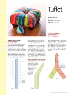 Download this Tuffet pattern. This quilt is featured in the November ...