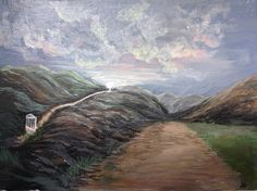 """It was too crazy. I fixed it (I think)... """"Look to the gate that is narrow which lies beside the open road that's hurried and deceptively wide. Most travel by it with hardly a glimpse never stopping to think of the life they will miss.""""  (part of)The Way by leacrylics"""