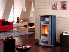 The Wood Pellet Burning Stove from Piazzetta is the perfect harmony of technology & design. Available from Robeys in Derbyshire. Decor, Wood, Stove, Wood Pellet Stoves, Home, Wood Pellets, Pellet Stove, Pellet, Home Appliances