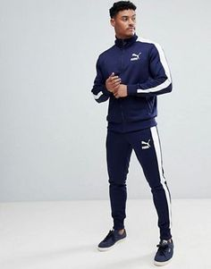 Puma Archive T7 Tracksuit in Navy