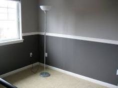Image result for one color walls with chair rail
