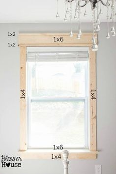 DIY Window Trim - The Easy Way   Bless'er House - I want to trim all the windows in our entire house like this!  For a more vintage look, go a little wider on the side casing and apron and make the 1x6 header slightly narrower.