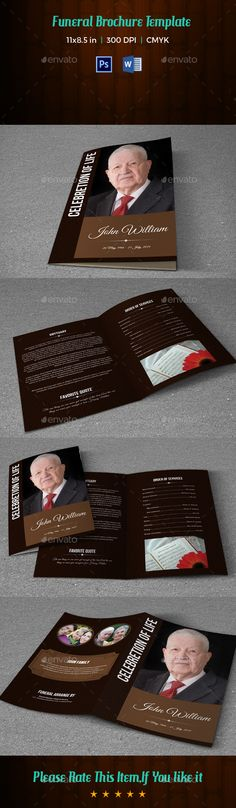 Mini Trifold Funeral Program TemplateV  Program Template
