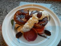 Grilled Peaches w/ Maple Bourbon Whipped Cream